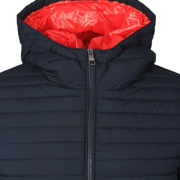 Tommy Hilfiger Mens Blue Quilted Hooded Jacket main image