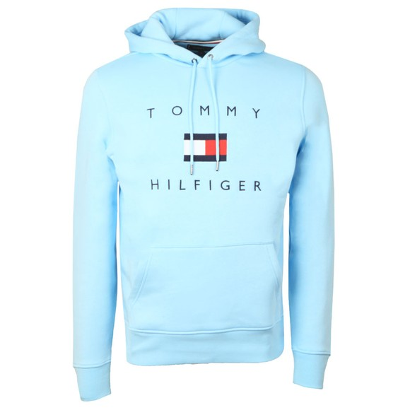 Tommy Hilfiger Mens Blue Flag Hoody