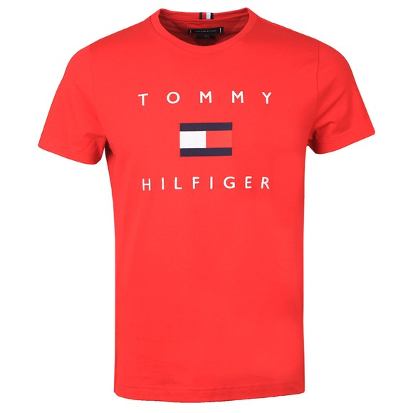 Tommy Hilfiger Mens Red Flag Tee