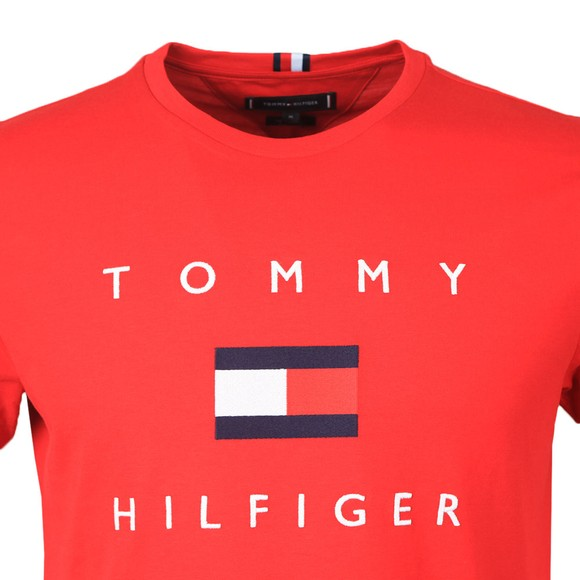 Tommy Hilfiger Mens Red Flag T-Shirt
