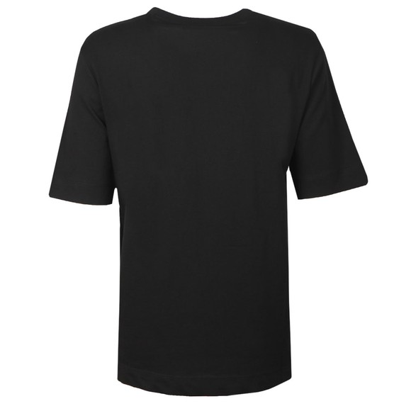 Love Moschino Womens Black Curved Logo T Shirt main image