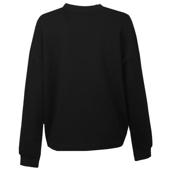 Love Moschino Womens Black Flower Heart Sweatshirt main image