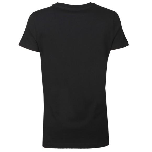 Love Moschino Womens Black Circle Logo T-Shirt main image
