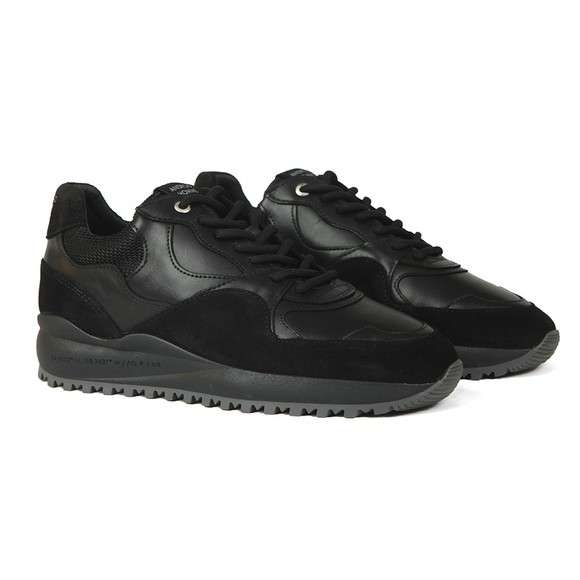 Android Homme Mens Black Santa Monica Rubber Mosaic Trainer