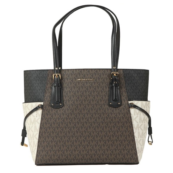 Michael Kors Womens Brown Voyager EW Tote