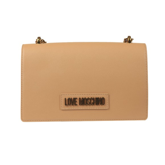 Love Moschino Womens Brown Logo Chain Shoulder Bag