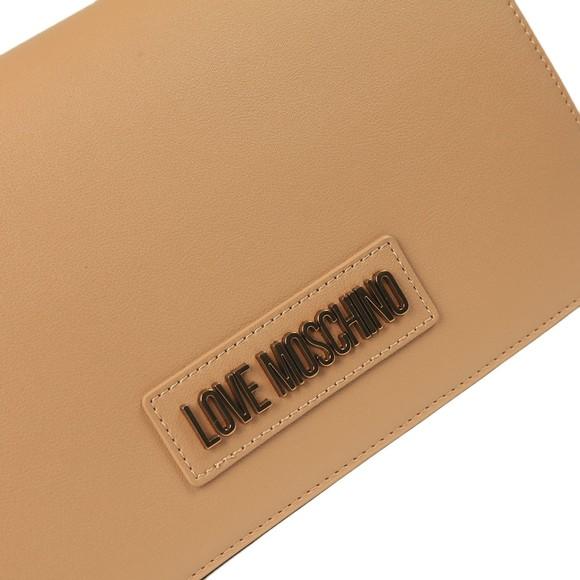 Love Moschino Womens Brown Logo Chain Shoulder Bag