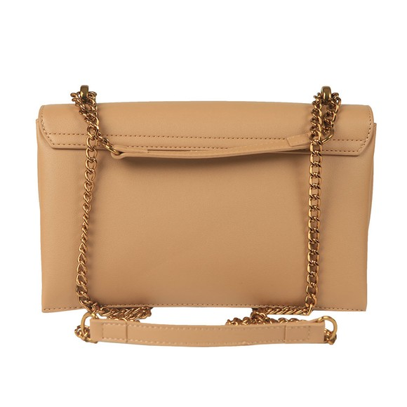 Love Moschino Womens Brown Logo Chain Shoulder Bag main image