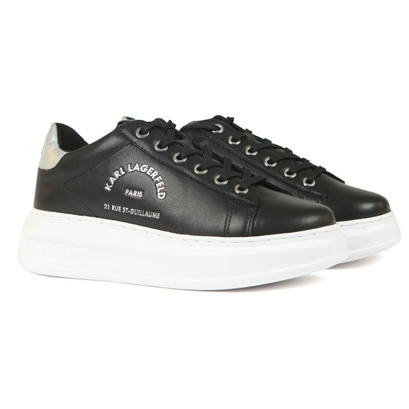 Karl Lagerfeld Womens Black Kapri Maison Karl Lace Trainer