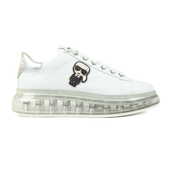 Karl Lagerfeld Womens White Kapri Kushion Trainer