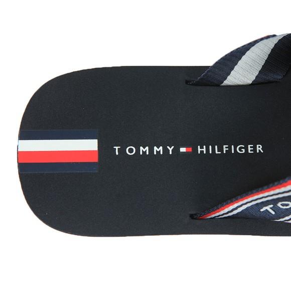 Tommy Hilfiger Mens Blue Logo Flip Flop main image