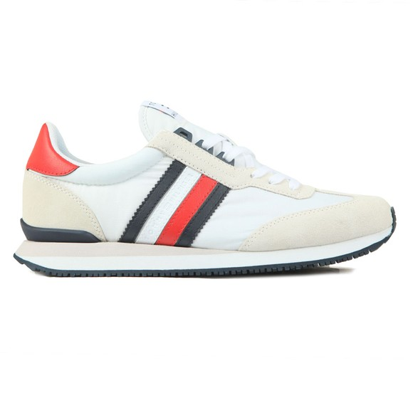 Tommy Hilfiger Mens Red Low Mix Runner Trainer