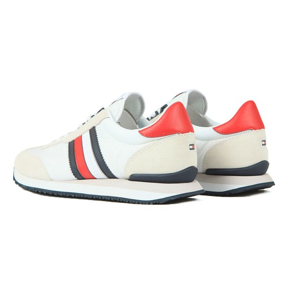 Tommy Hilfiger Mens Red Low Mix Runner Trainer main image