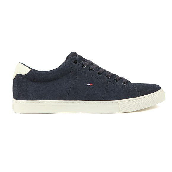 Tommy Hilfiger Mens Blue Seasonal Suede Sneaker