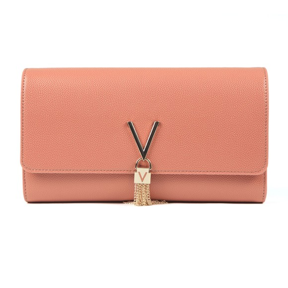 Valentino by Mario Womens Orange Divina Clutch