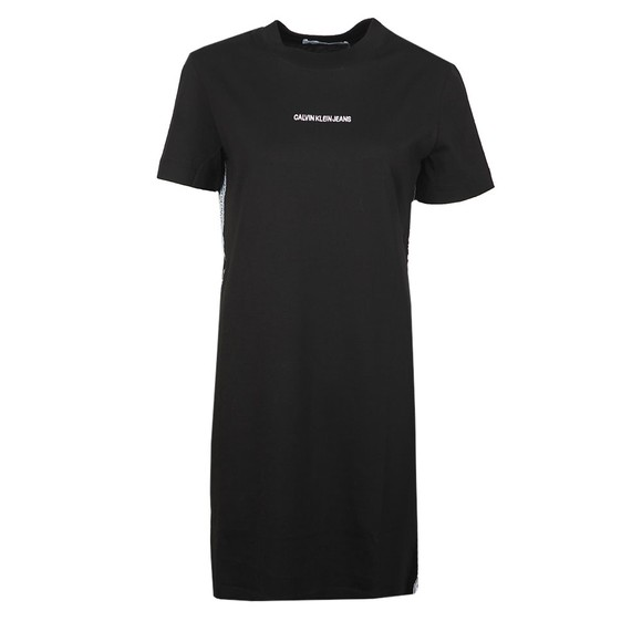 Calvin Klein Jeans Womens Black Side Tape T Shirt Dress