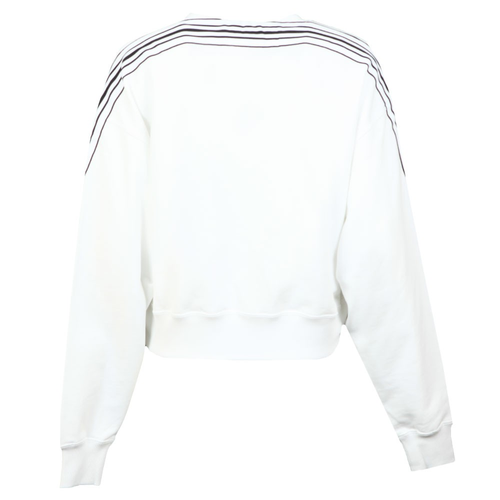 Stripe Tape Cropped Sweatshirt main image