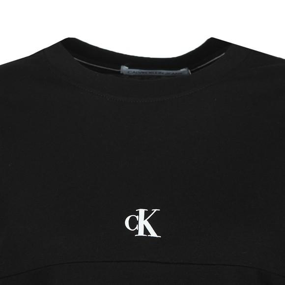 Calvin Klein Jeans Womens Black Puff Print Back Logo T-Shirt main image