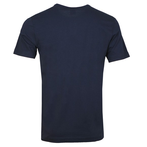 BOSS Mens Blue Athleisure Curved T-Shirt main image