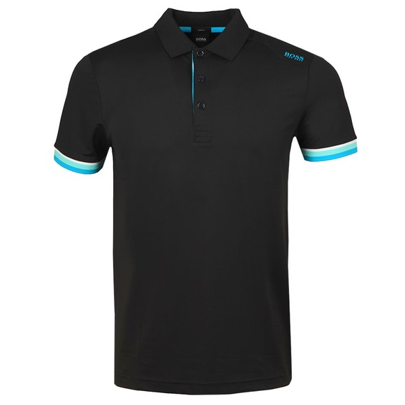 BOSS Mens Black Athleisure Paule 6 Polo Shirt