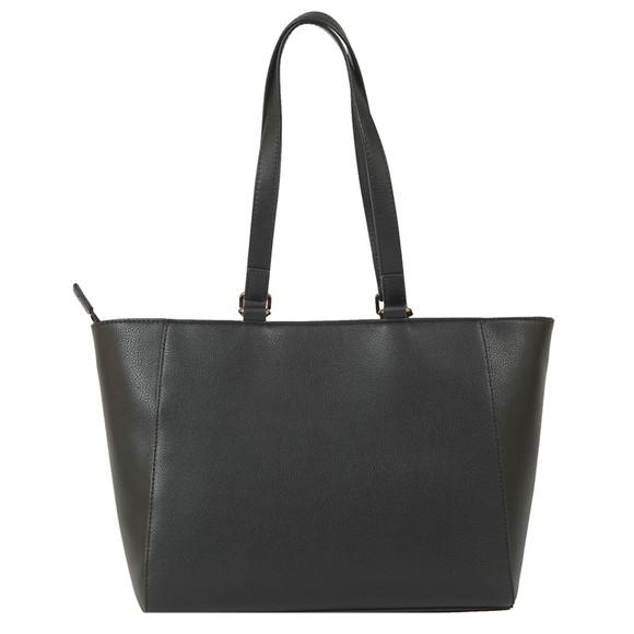 Love Moschino Womens Black Small Logo Grain Bag main image