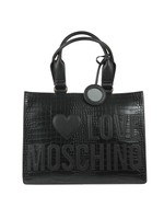 Large Logo Croco Shopper Bag