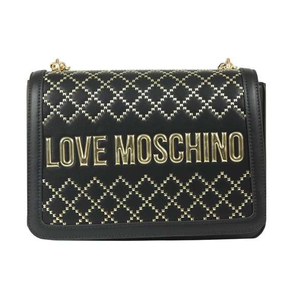 Love Moschino Womens Black Borsa Patterned Handbag
