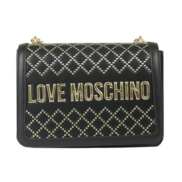 Love Moschino Womens Black Borsa Patterned Handbag  main image