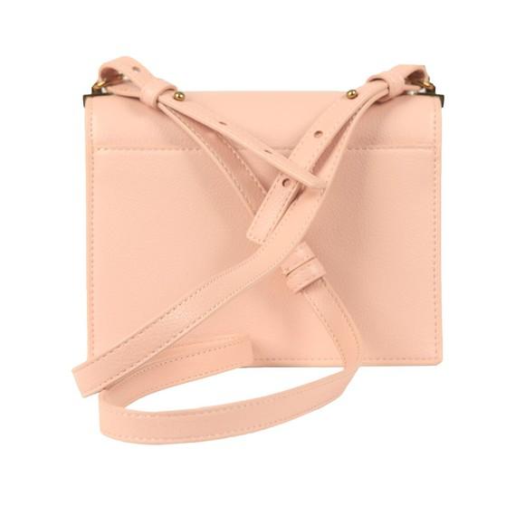 Love Moschino Womens Pink Small Logo Grain Small Bag main image