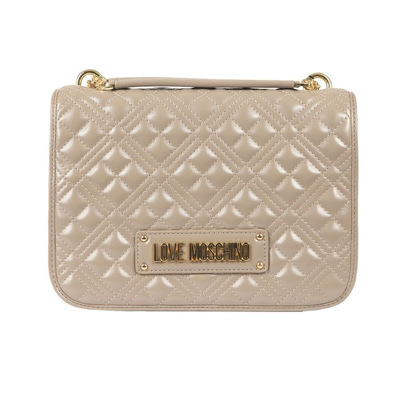 Love Moschino Womens Grey Cross Quilted Small Bag main image