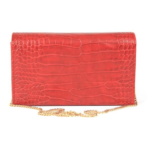 Love Moschino Womens Red Croco Clutch Bag main image