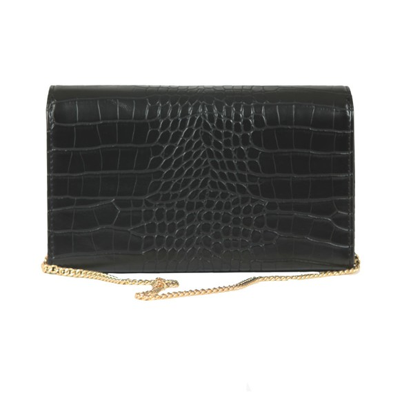 Love Moschino Womens Black Croco Clutch Bag main image