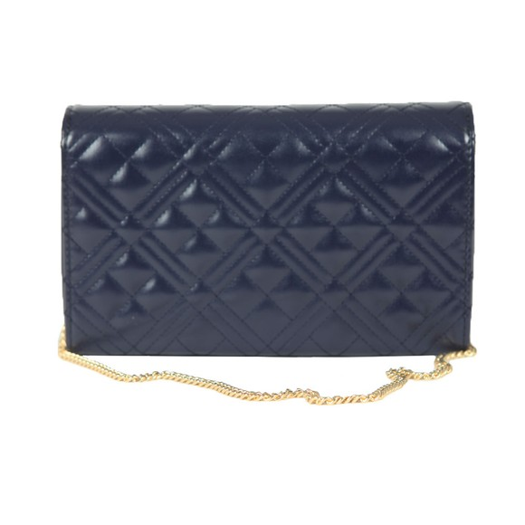 Love Moschino Womens Blue Cross Quilted Clutch main image