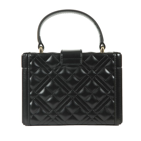 Love Moschino Womens Black Cross Quilted Small Shoulder Bag main image