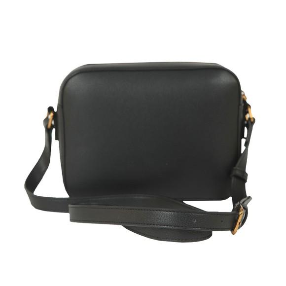Love Moschino Womens Black Small Logo Grain Shoulder Bag main image