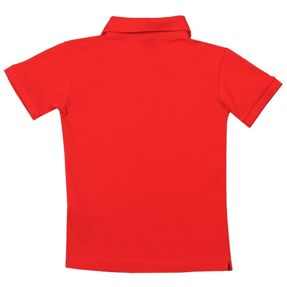 Paul & Shark Cadets Boys Red Printed Logo Polo Shirt main image