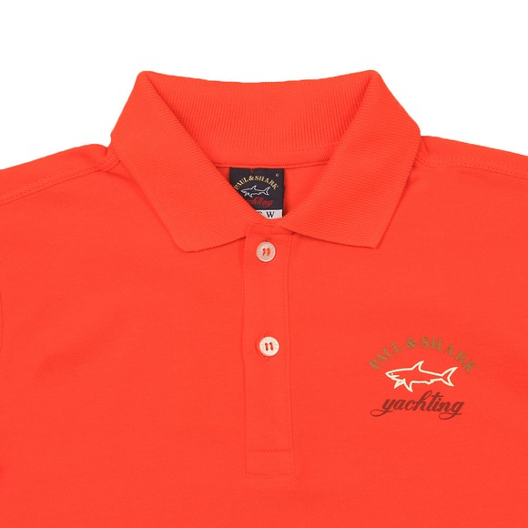 Paul & Shark Cadets Boys Orange Printed Logo Polo Shirt main image