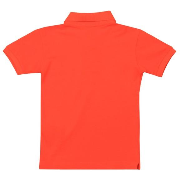 Paul & Shark Cadets Boys Orange Printed Logo Polo Shirt main image