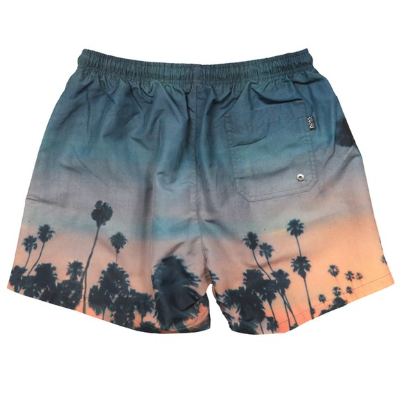 BOSS Bodywear Mens Multicoloured Springfish Patterned Swim Short