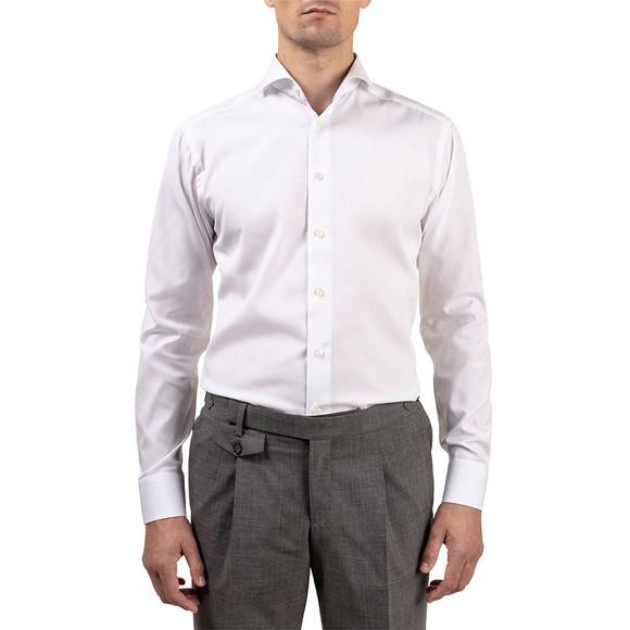 Eton Mens White Slim Cloud Detail Shirt main image