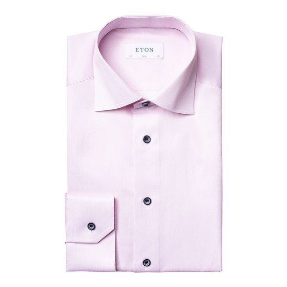 Eton Mens Pink Signature Twill Shirt