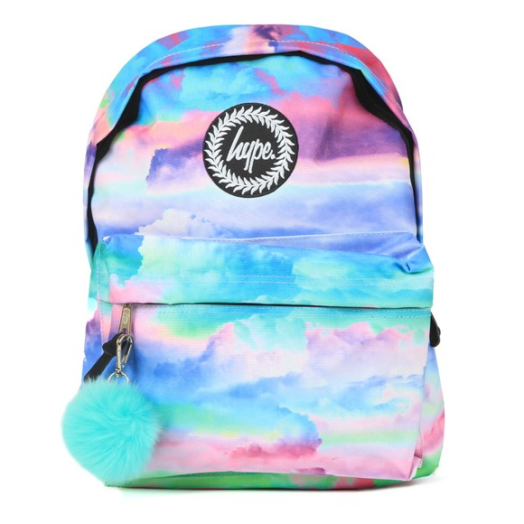 Hype Girls Blue Cloud Hues Backpack