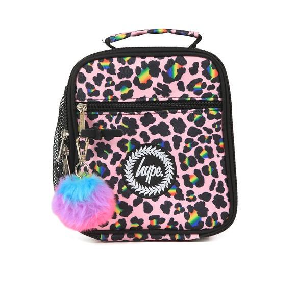 Hype Girls Blue Rainbow Leopard Lunchbox