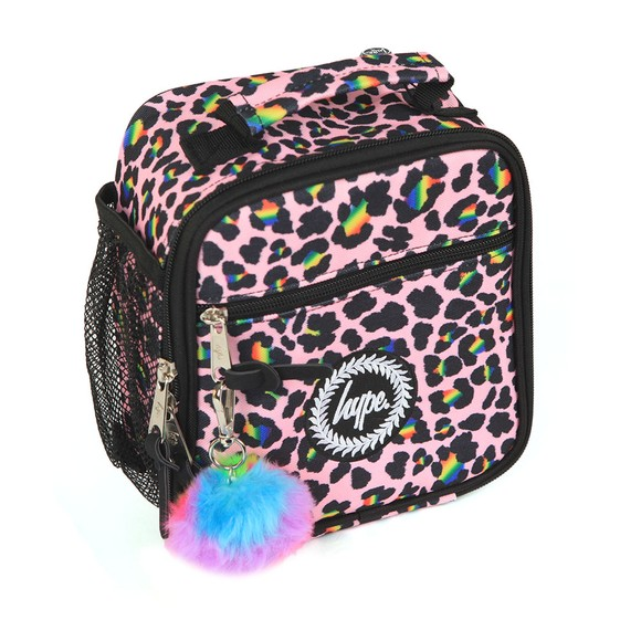 Hype Girls Multicoloured Rainbow Leopard Lunchbox