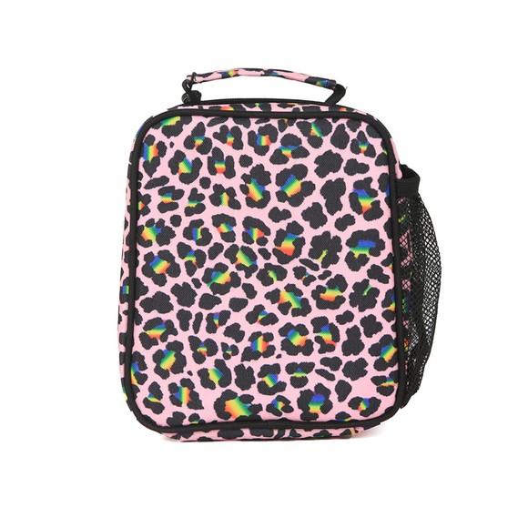 Hype Girls Multicoloured Rainbow Leopard Lunchbox main image