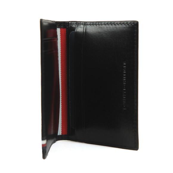 Tommy Hilfiger Mens Black Polished Leather Bifold Wallet