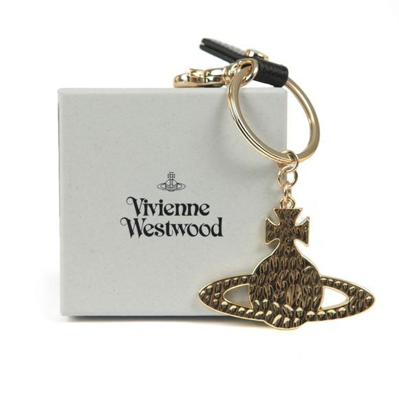 Vivienne Westwood Mens Gold Debbie Hammered Orb Keyring