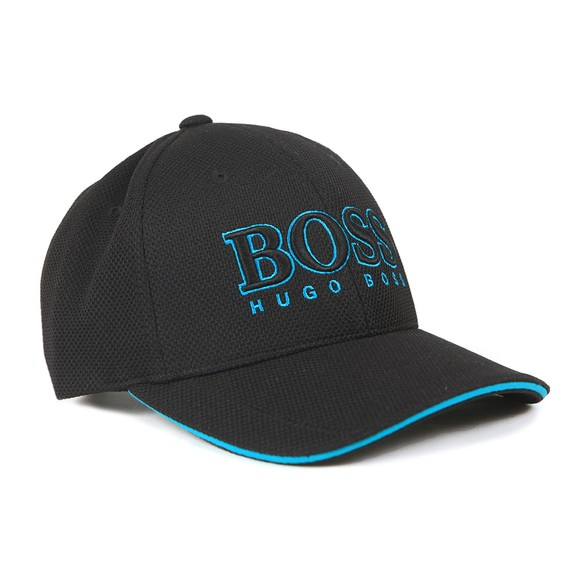 BOSS Mens Black Large Logo Cap