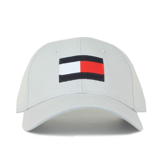 Tommy Hilfiger Mens Grey Big Flag Cap