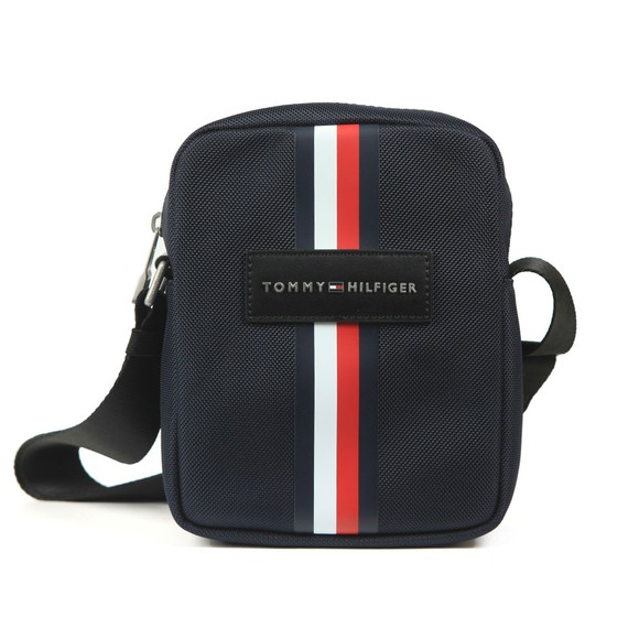 Tommy Hilfiger Mens Blue Uptown Nylon Mini Reporter Bag